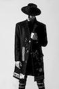 black-and-white, fashion, man