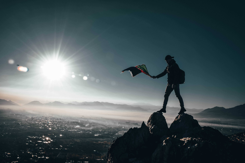 Kostenloses Stock Foto zu berge, bergsteiger, felsen, himmel
