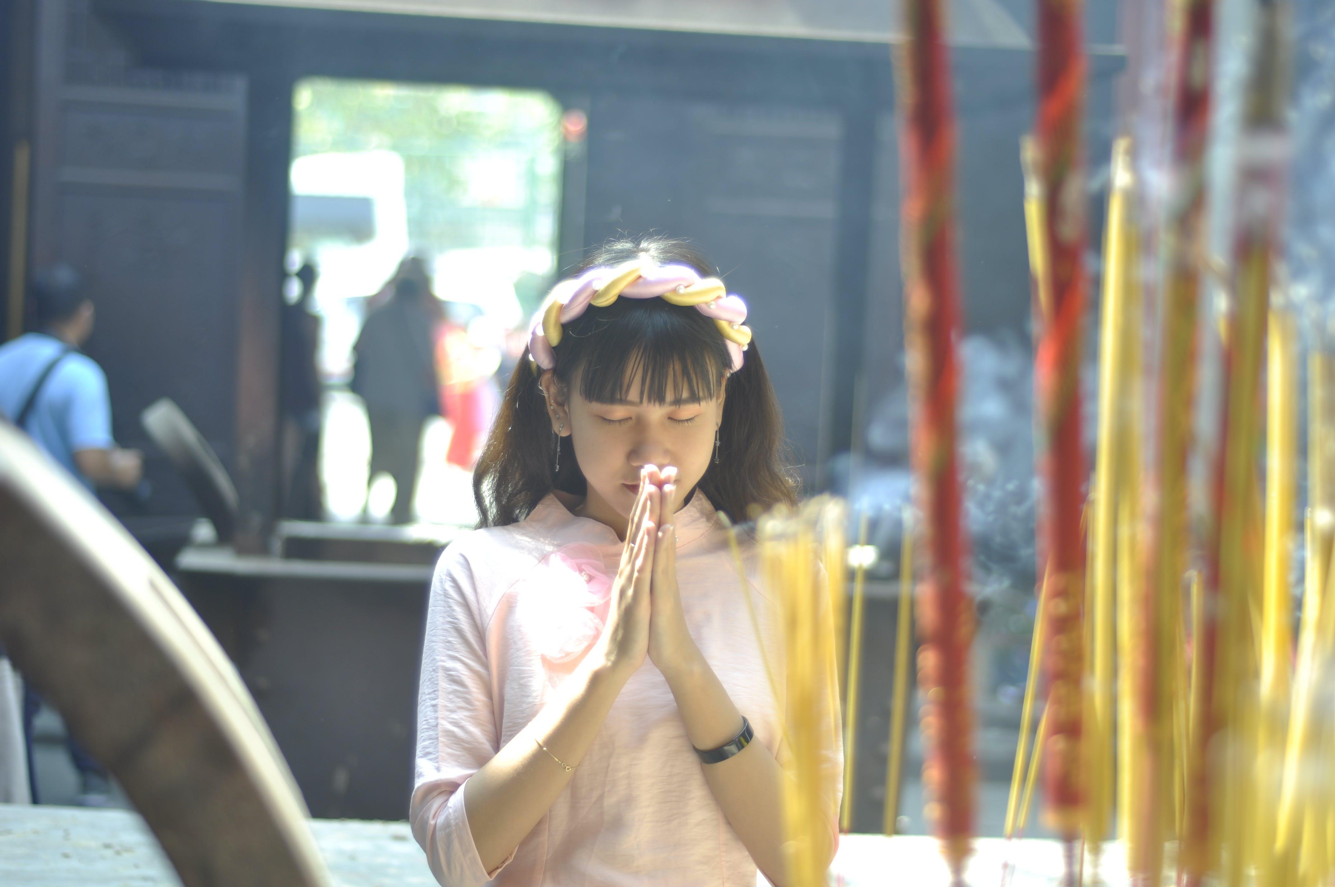 Free stock photo of asian girl, pagoda, vietnam