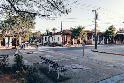 Free stock photo of bench, cuba, park, sunset