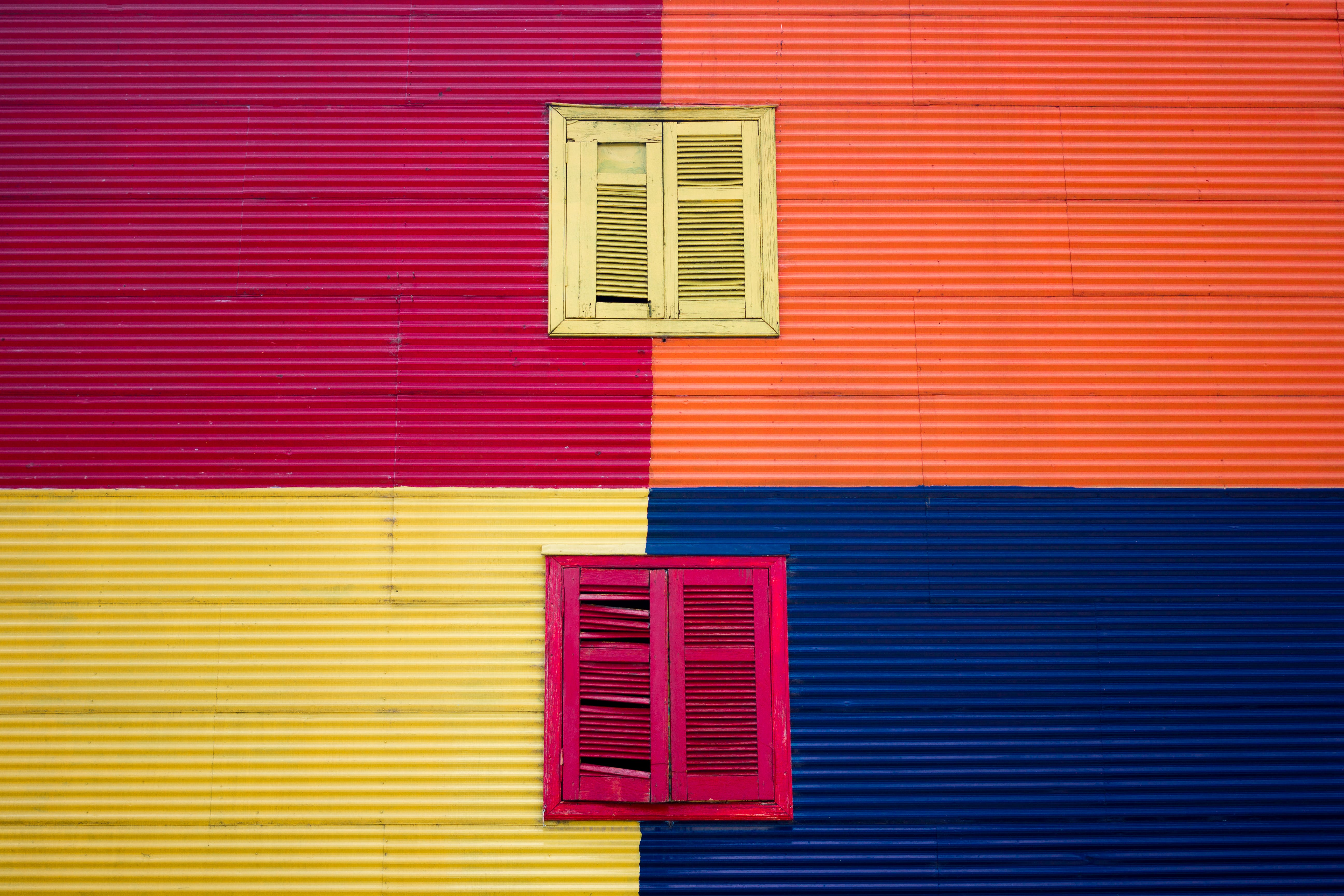 Red And Yellow Windows