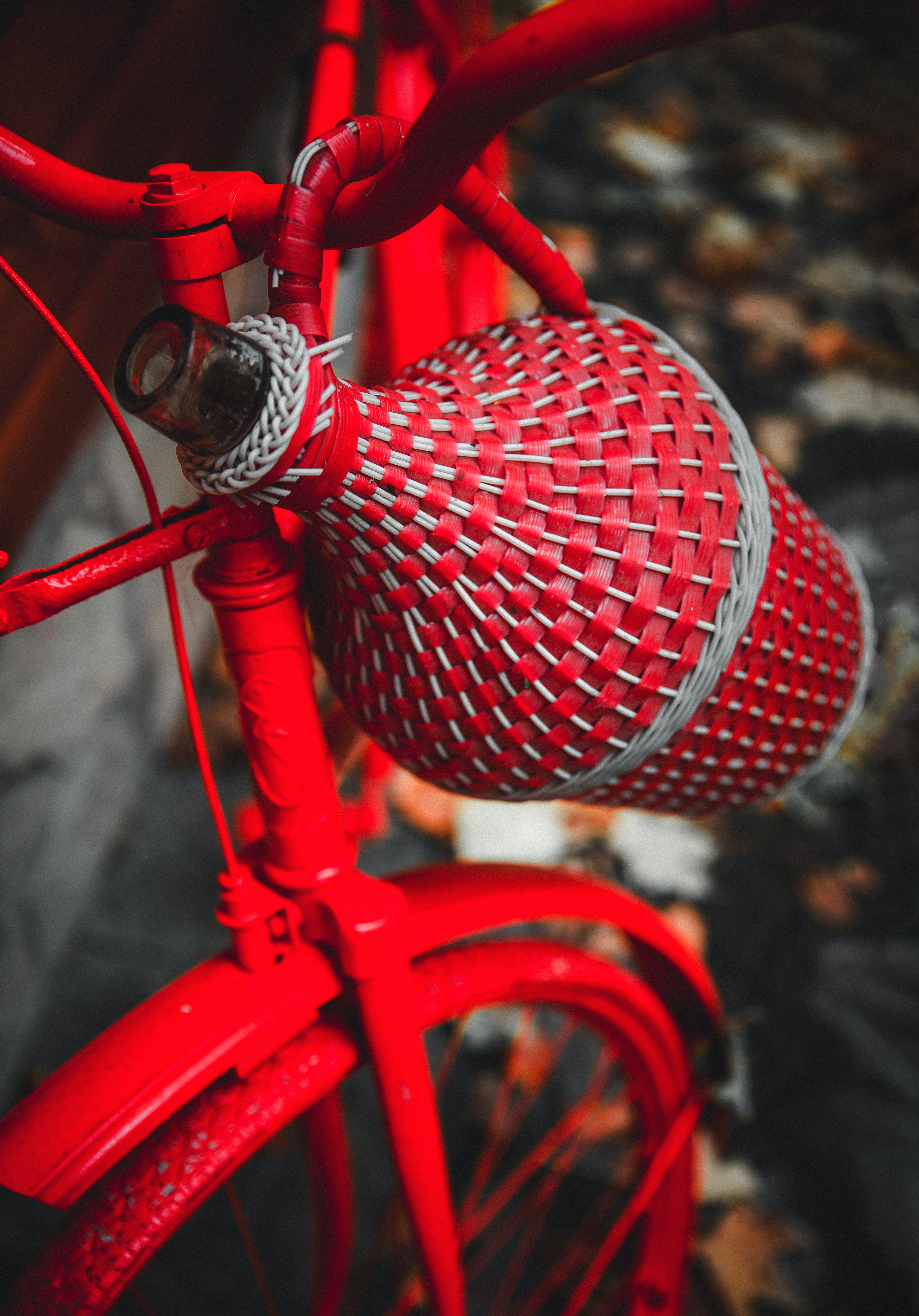 Free stock photo of red, bicycle, color