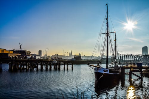 Free stock photo of boat, landscape, port