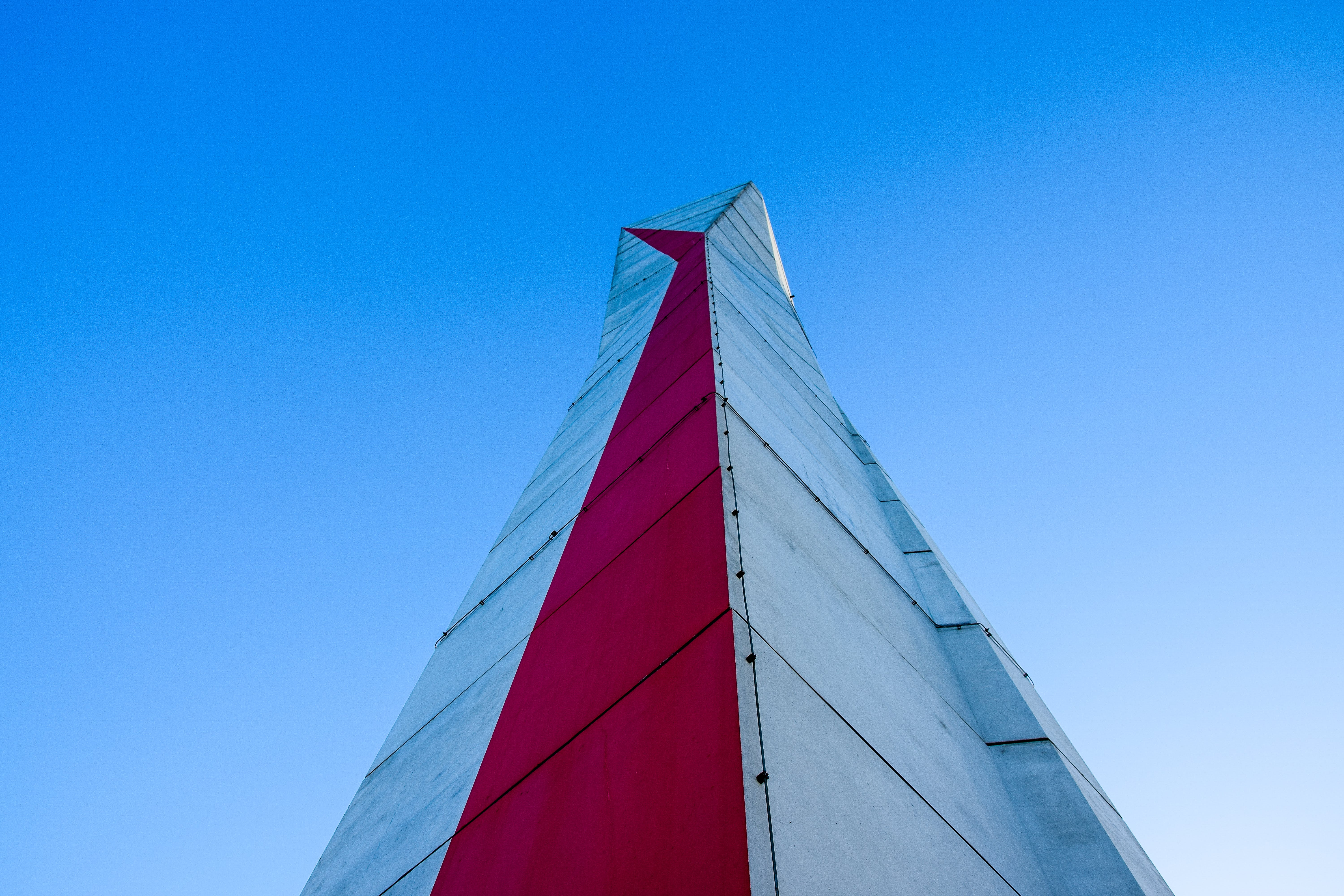Free stock photo of architecture, blue, blue sky, red