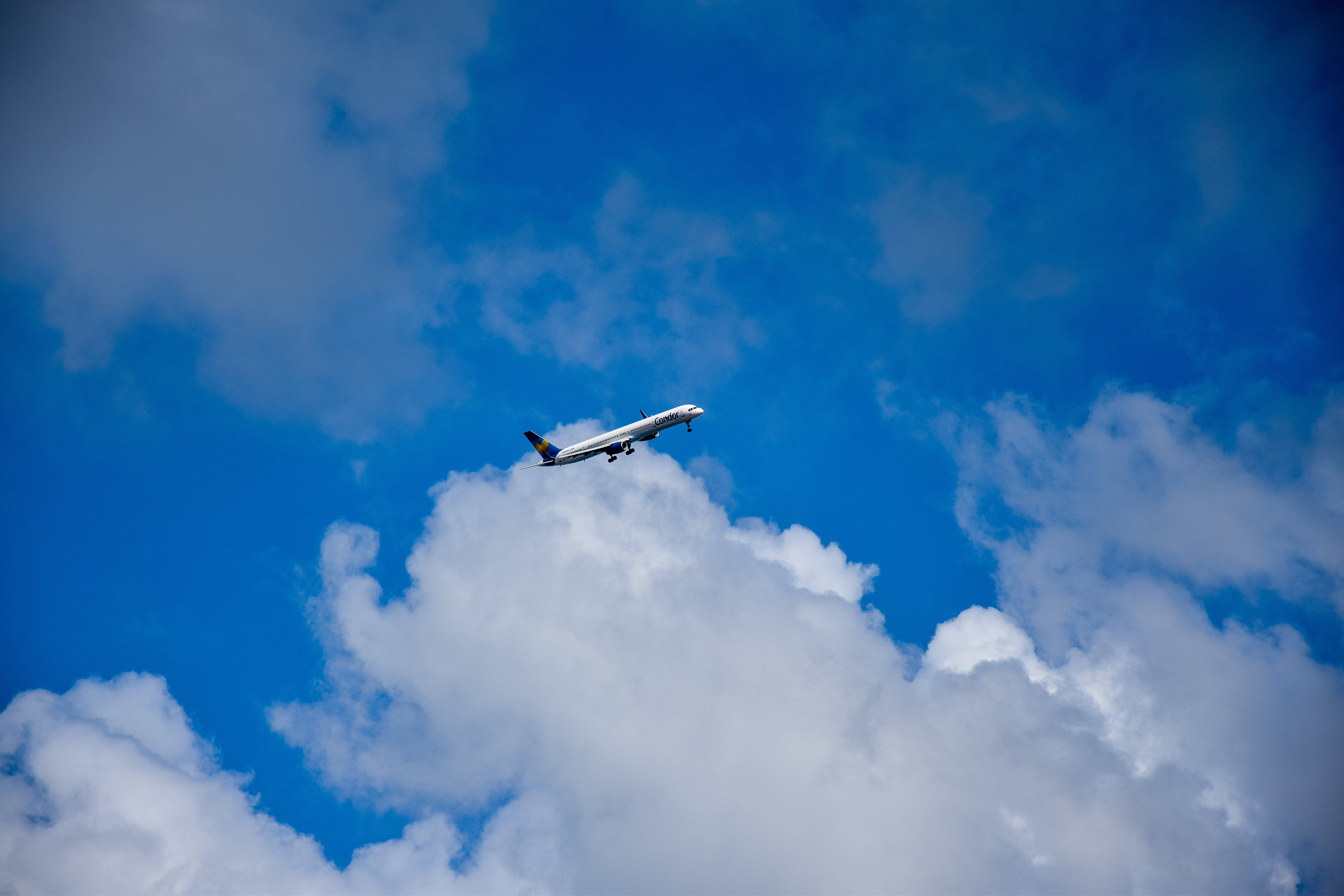 Free stock photo of airplane, blue sky, clouds, plane