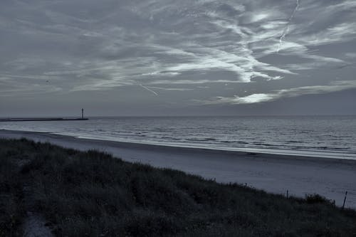 Free stock photo of beach landscape, clouds, grey sky