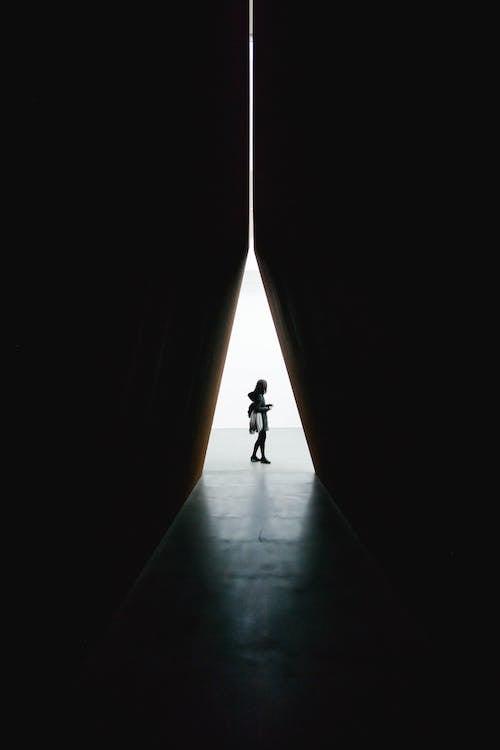 室內, 景觀, 漆黑, 隧道圖 的 免费素材照片