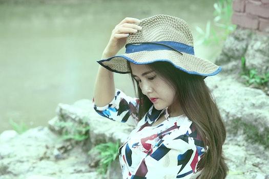 Free stock photo of fashion, woman, model, hat