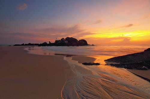 Ilmainen kuvapankkikuva tunnisteilla aamu, auringonlasku, auringonnousu, hiekka