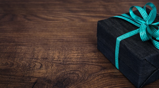Black Box With Green Bow Accent