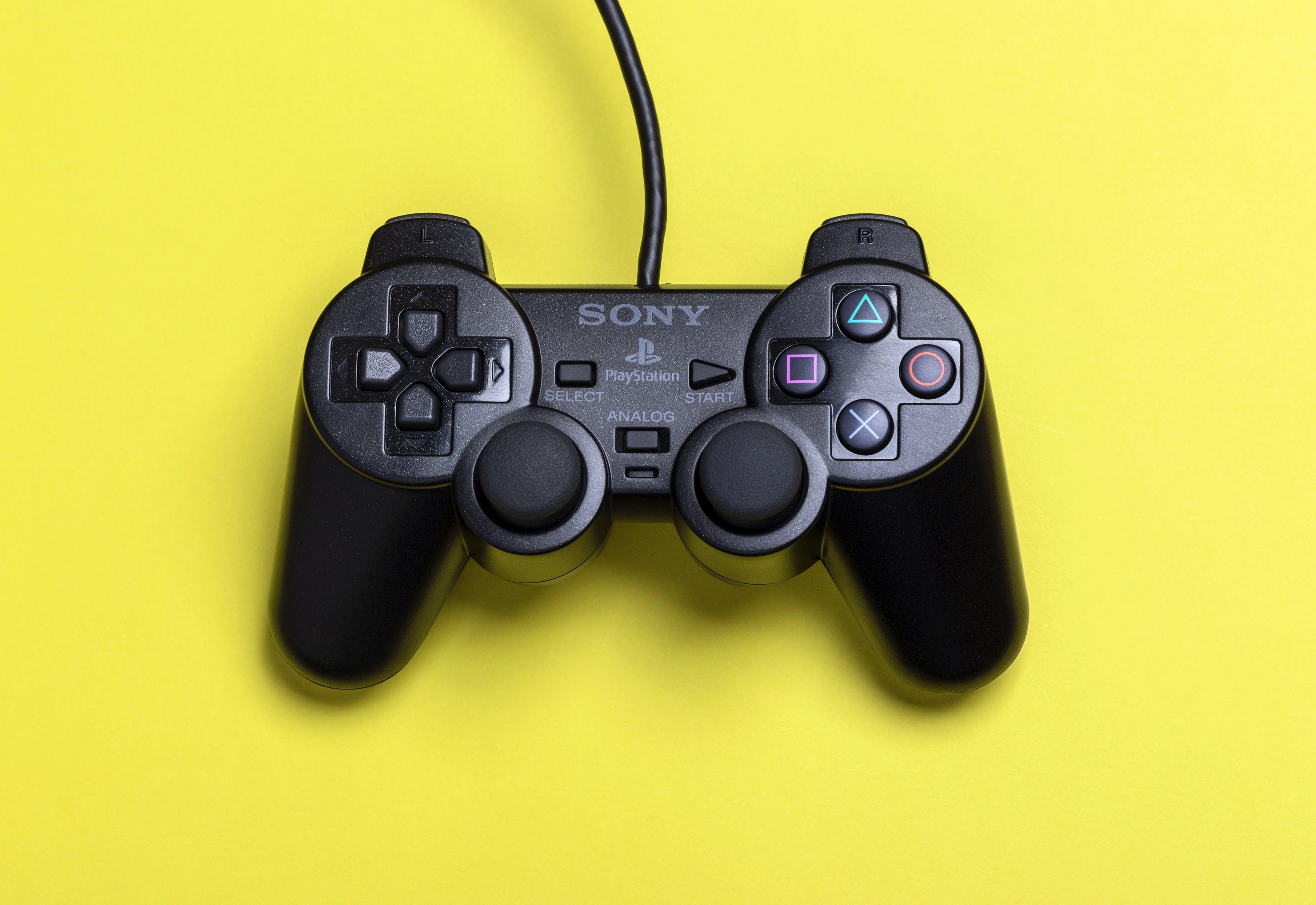 Black Sony Ps2 Dualshock 2