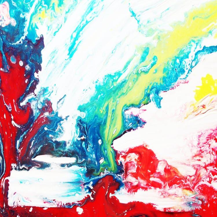 Multicolored Paint Liquid Art