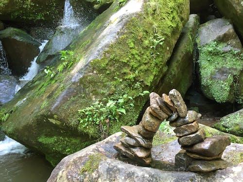 Free stock photo of nature, rock balancing, rocks, stream