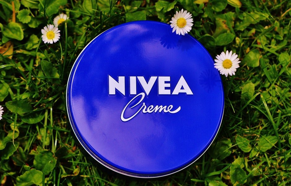 Nivea Creme Tub on Grass