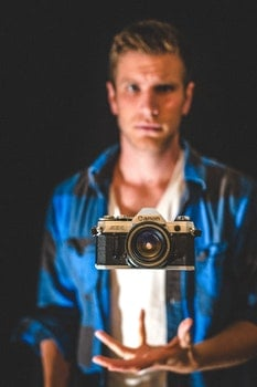 Free stock photo of man, camera, photographer, photography