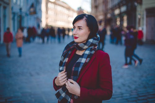 Selective Focus Photography Of Woman Wearing A Scarf