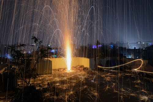 城市, 天空, 時間流逝, 晚上 的 免費圖庫相片