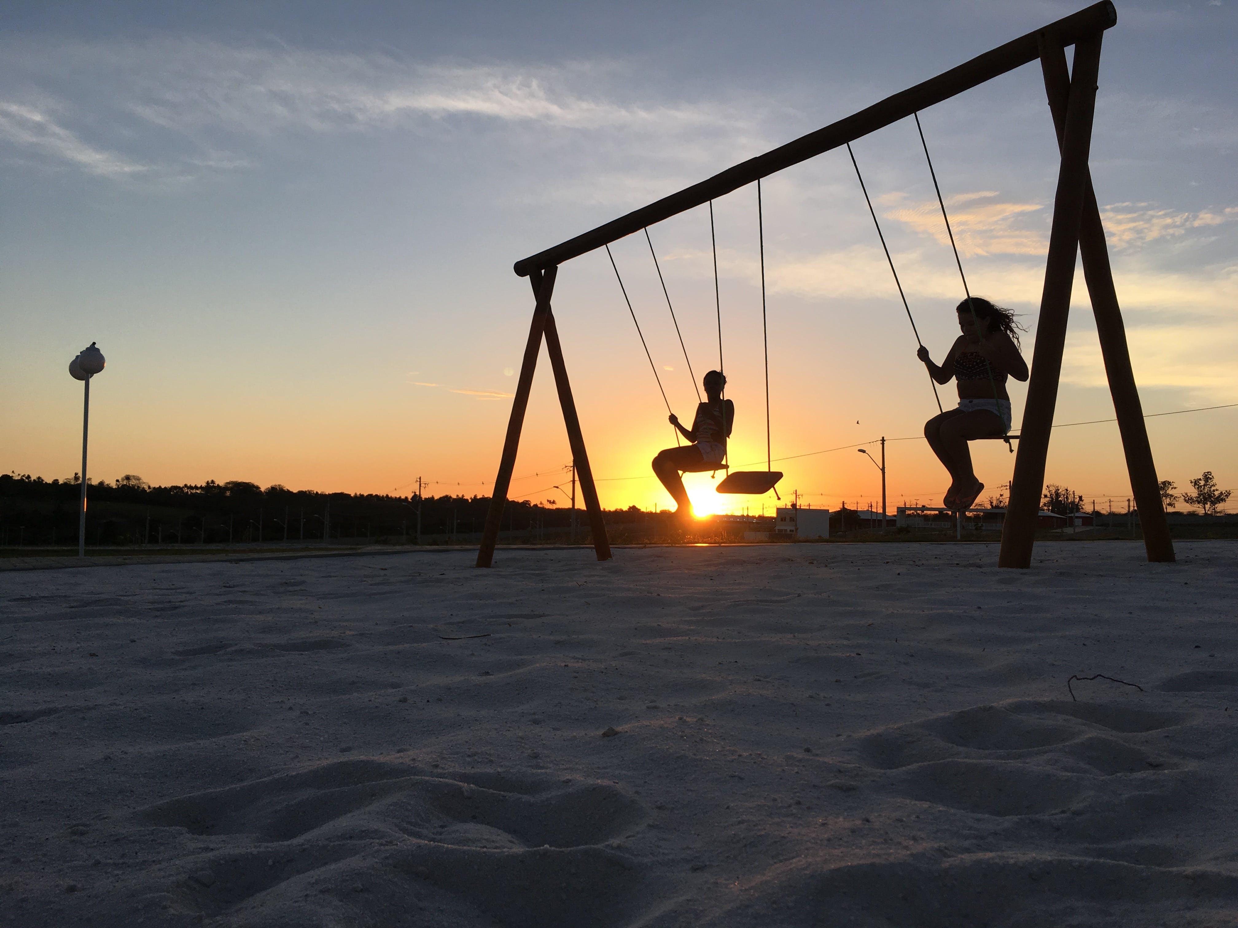 balance, children, contra luz