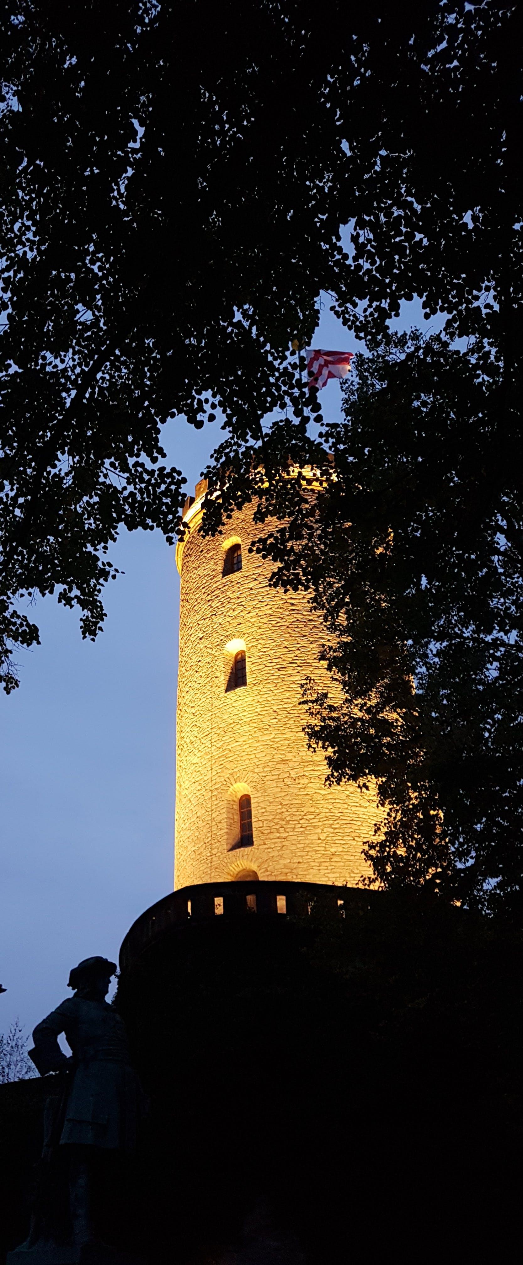 Free stock photo of atmospheric evening, Bielefeld, blue sky, castle