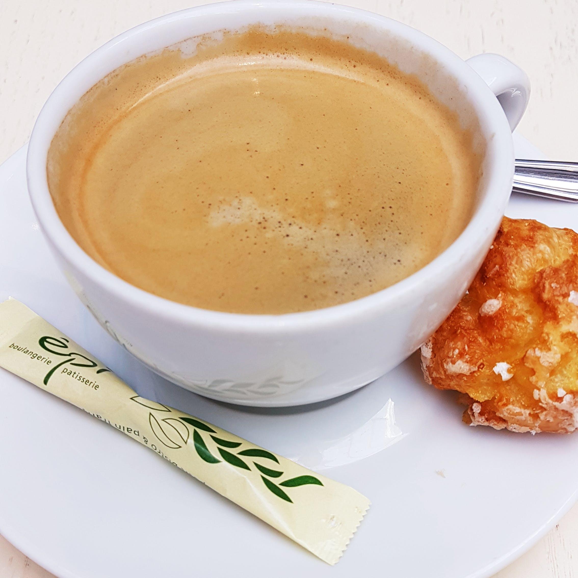 Free stock photo of black coffee, brewed coffee, cake, coffee