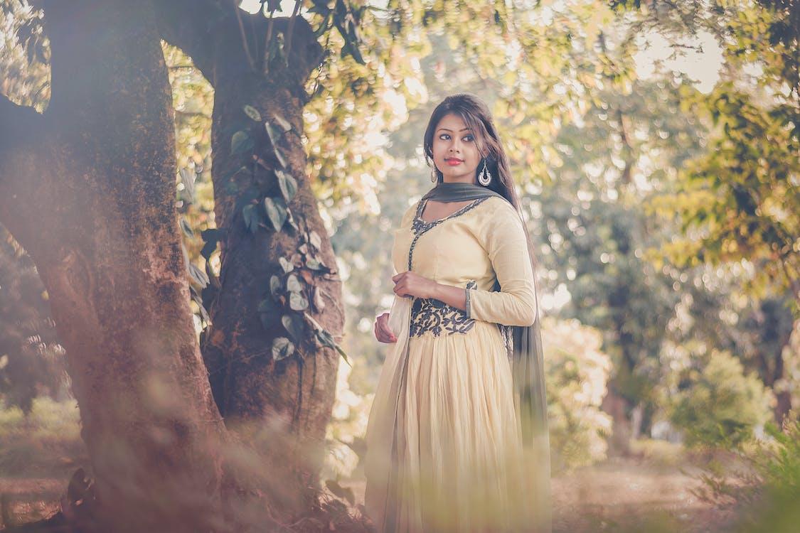 インドの女の子, ゴージャス, ドレス