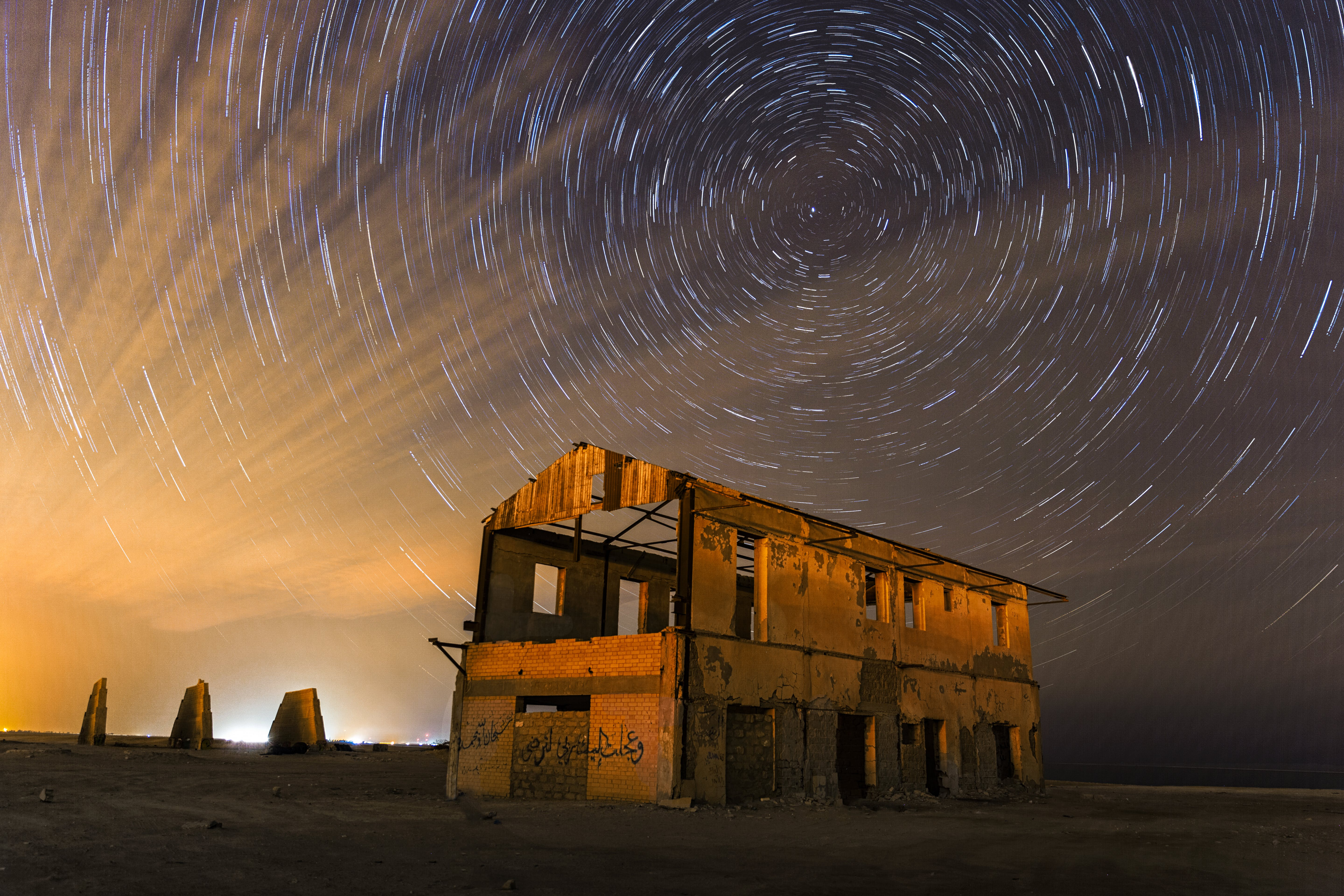 Time-lapse Photography of Grey and Brown Abandoned Building