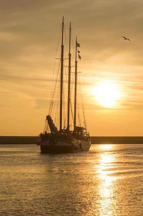 太陽, 帆, 帆船