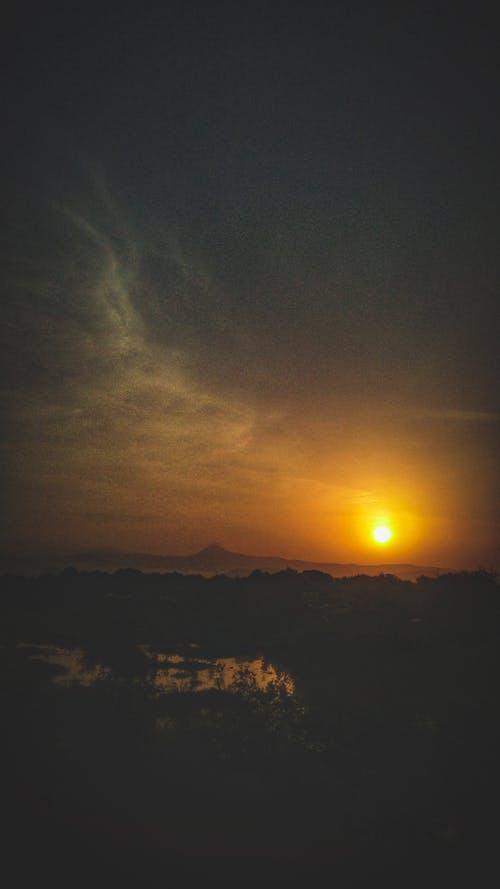 Základová fotografie zdarma na téma večerní obloha