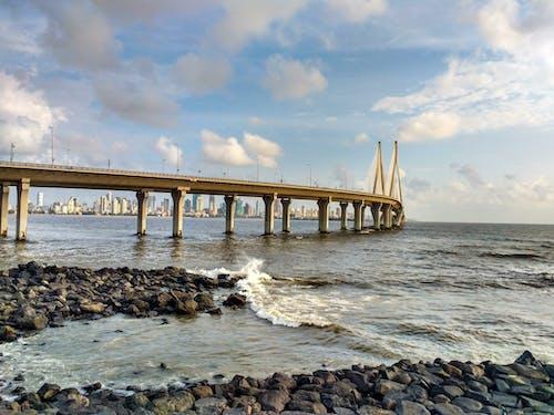 Gratis stockfoto met brug, mumbai, schoonheid in de natuur, worli-bandra sealink