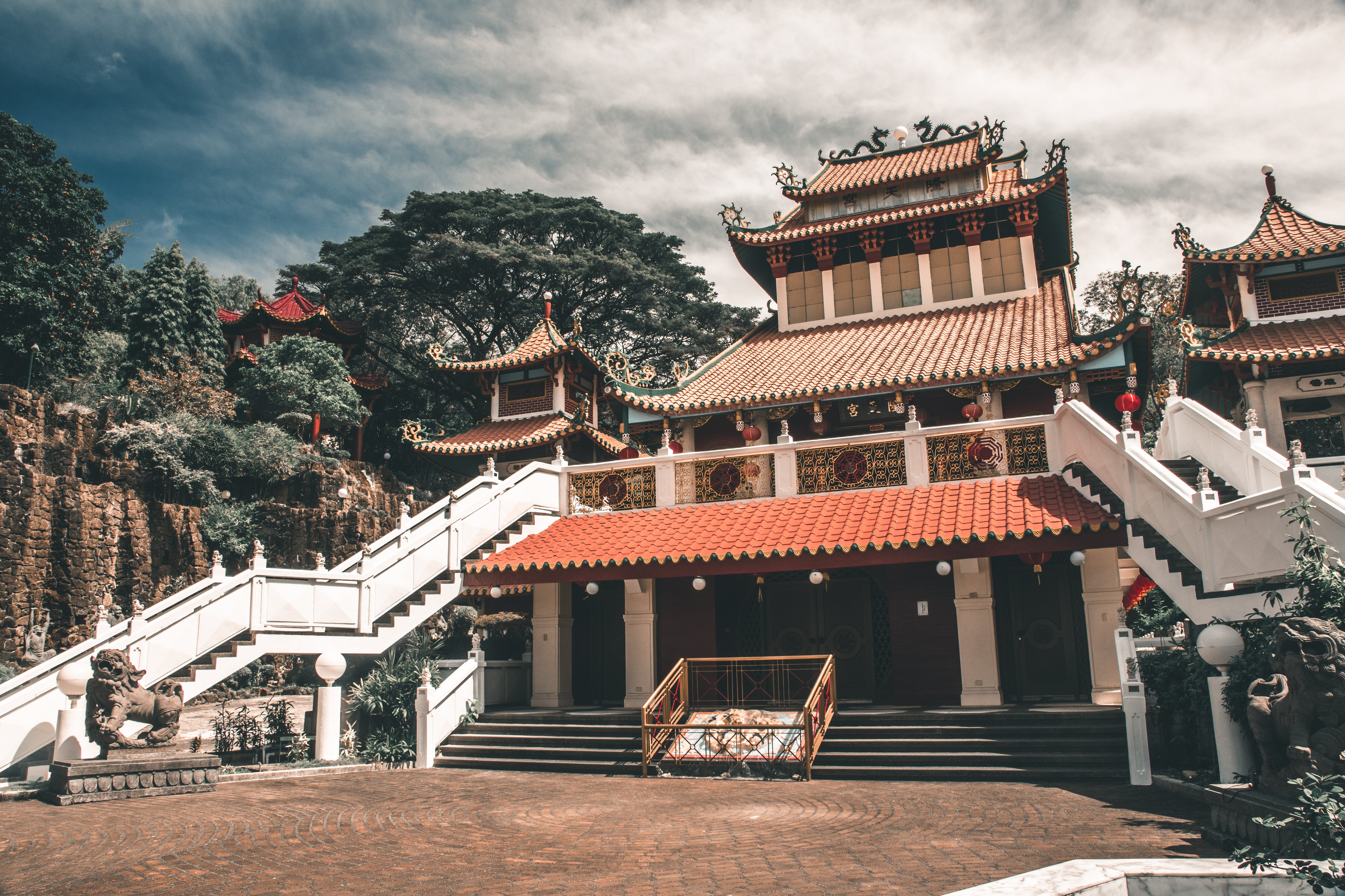 Low-angle Photo of Temple