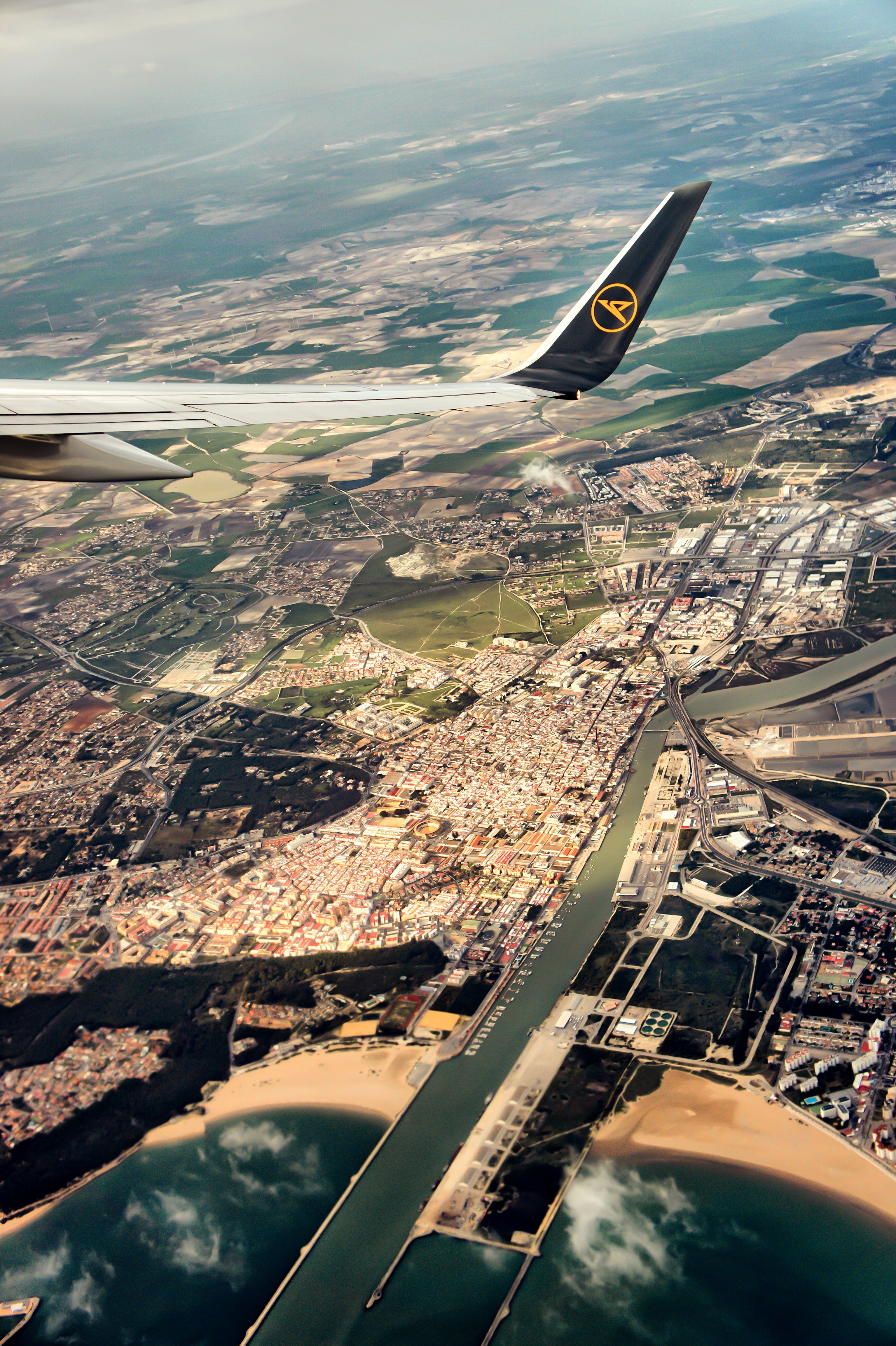 Kostenloses Stock Foto zu airplane, airplane wing, andalusia, curve