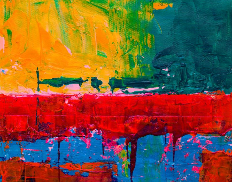 abstraktní obraz, barevný, barvy