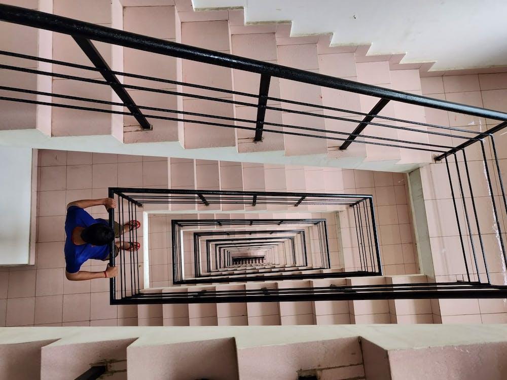 архітектура, всередині, дивитися вниз