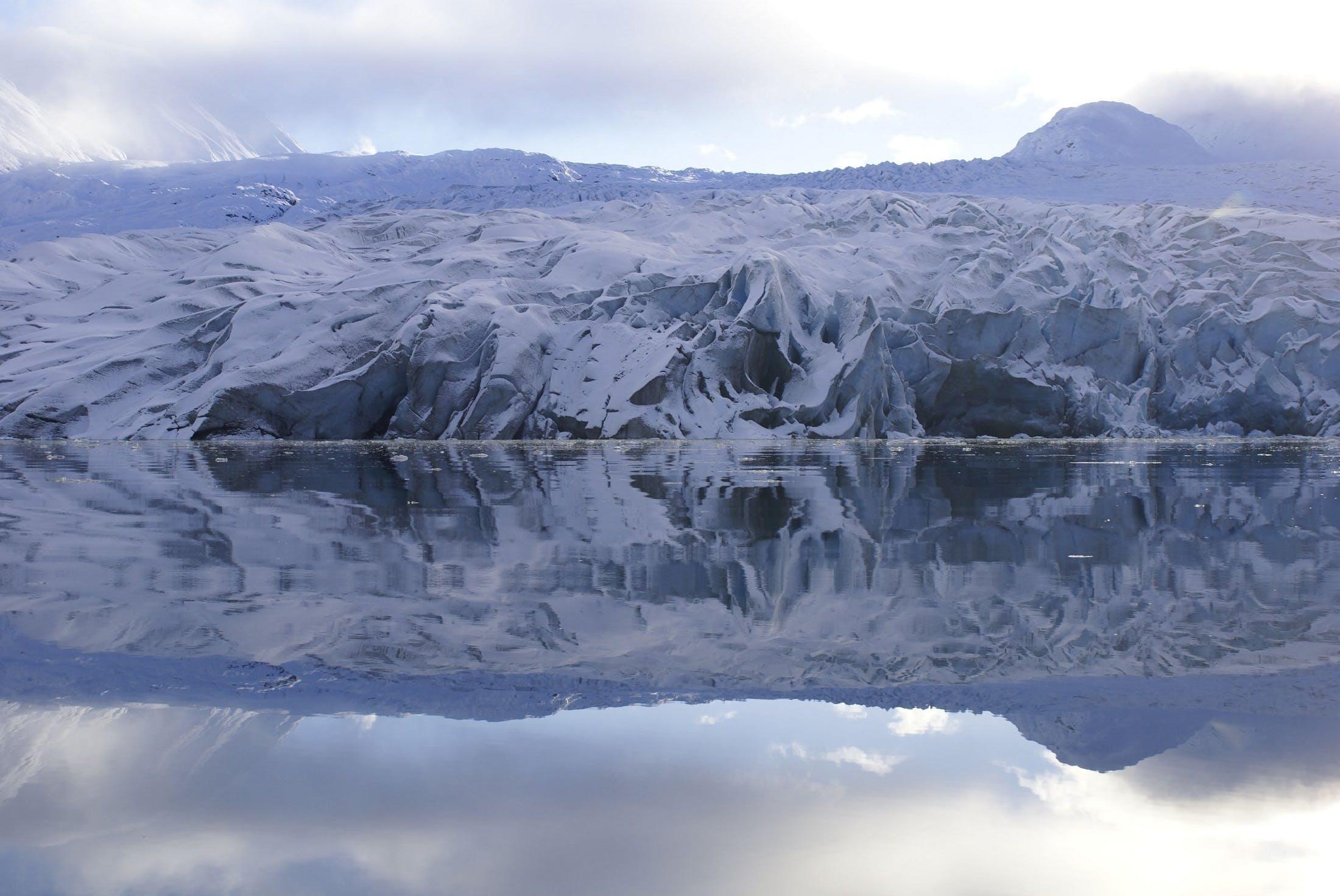 Ice Island Near Body of Water