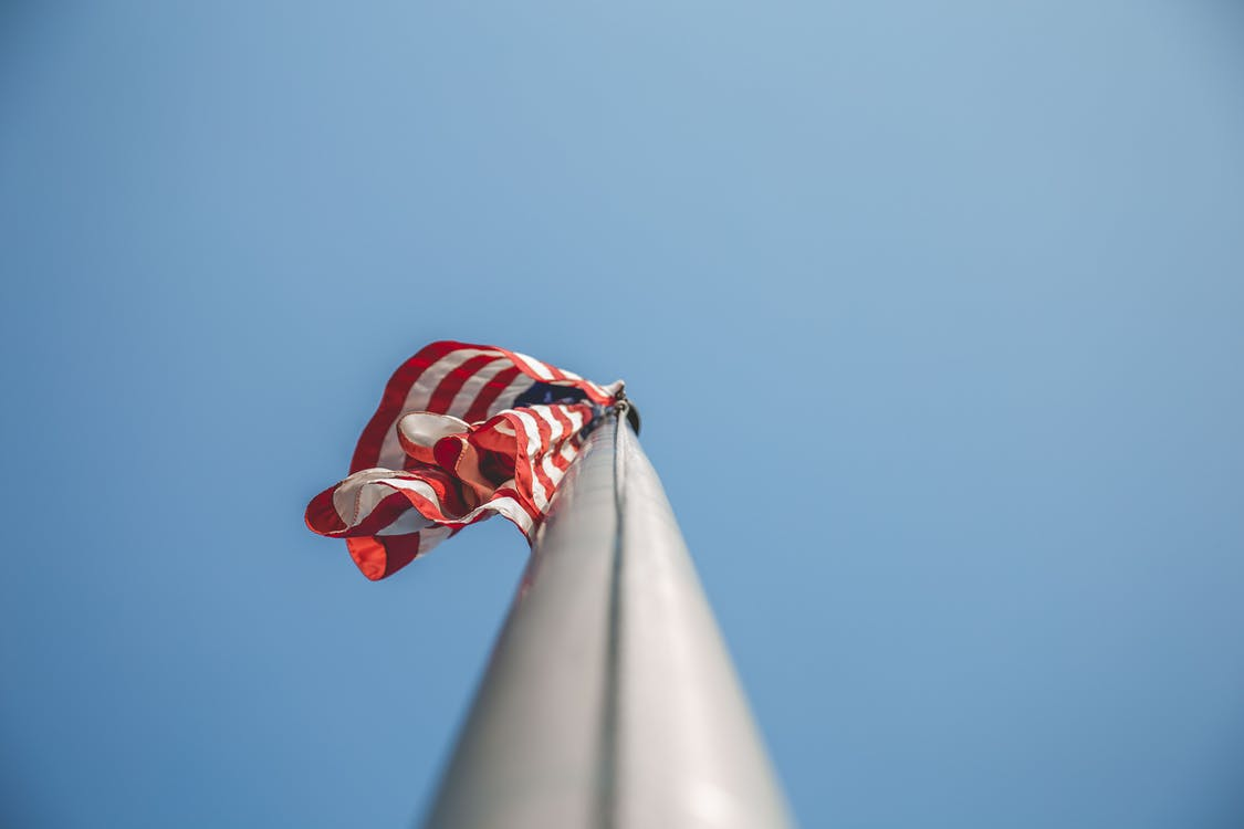 Close-up Photo Of American Flag