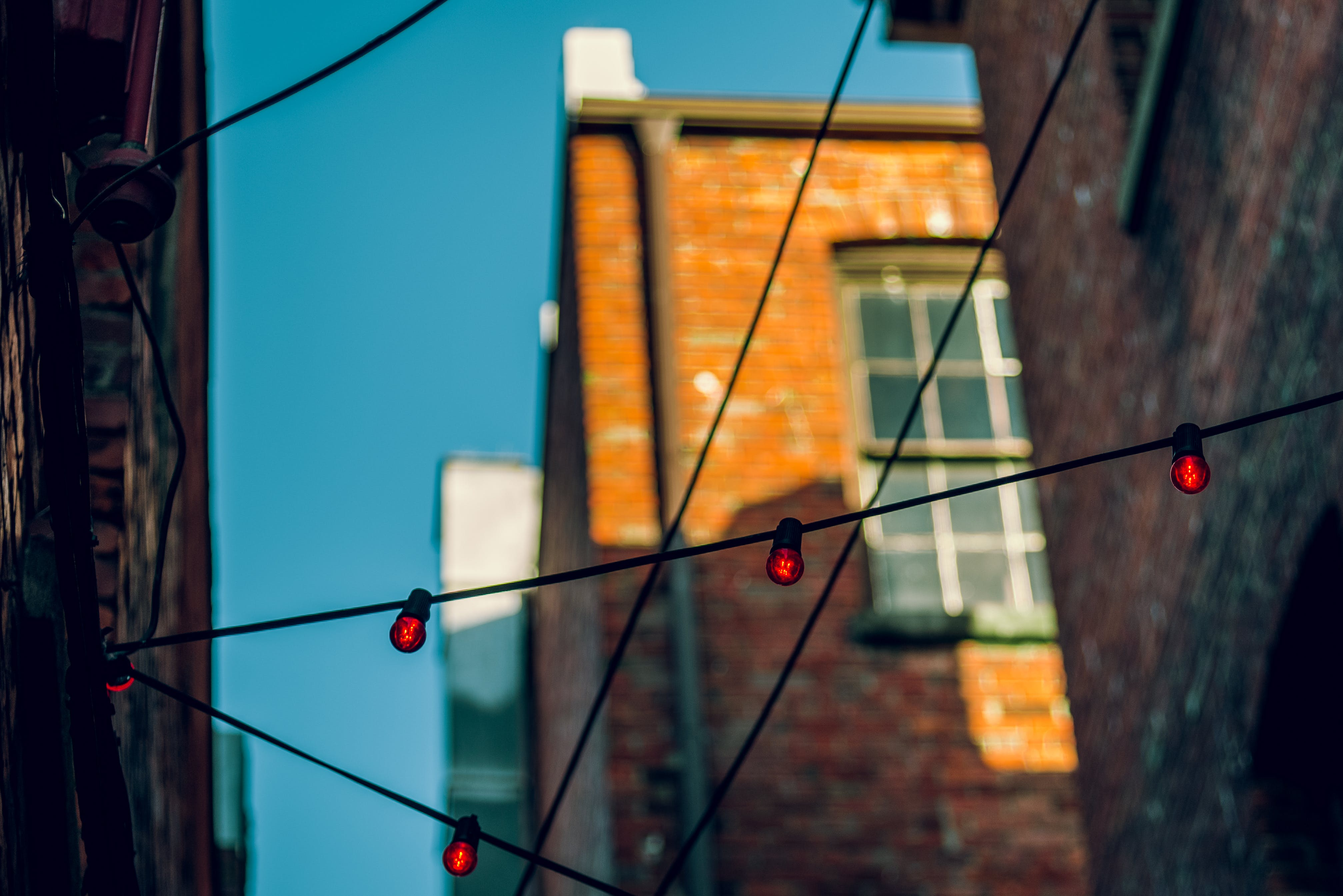 Free stock photo of architecture, blur, buildings, bulbs
