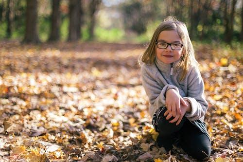 Smiling Girl Wearing Eyeglasses