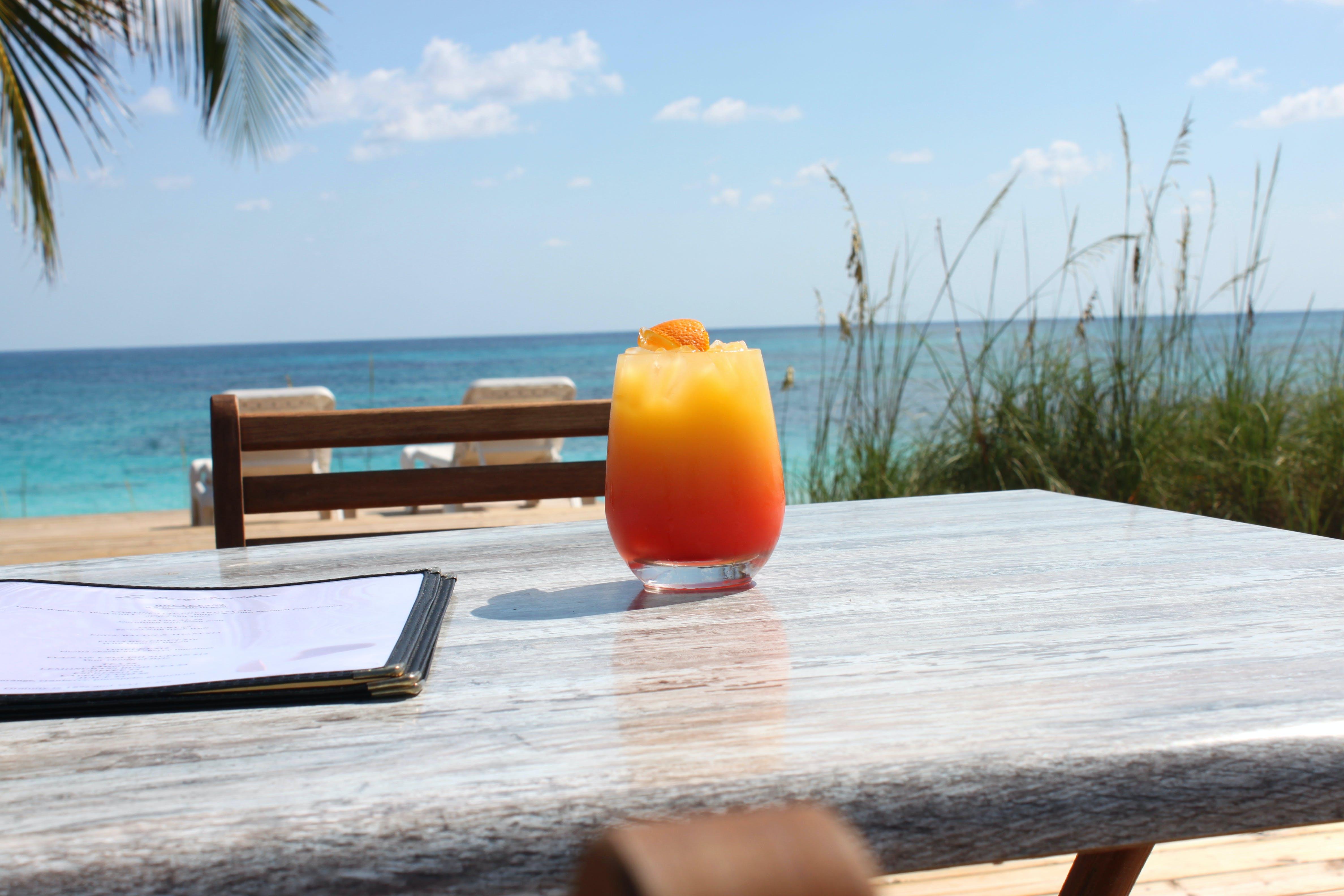 beach, drink