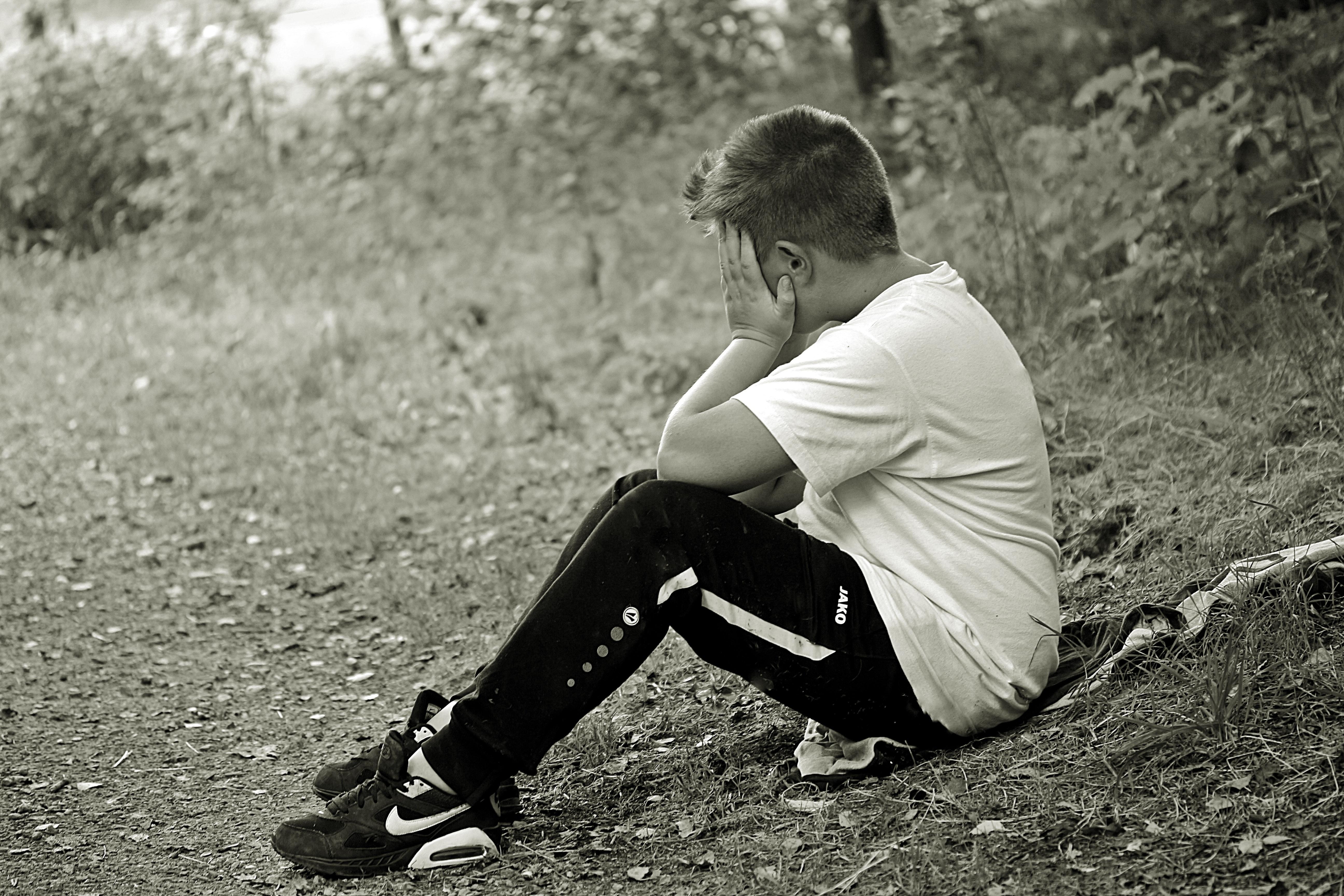 Black-Haired Boy Crying  Free Stock Photo-6609