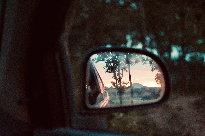 Shallow Depth Photo of Black Side Mirror