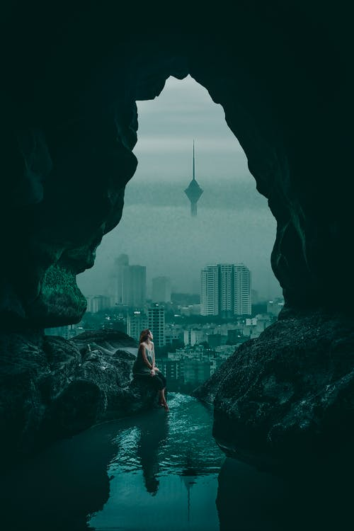Free stock photo of city, clouds, Milad Tower, nature