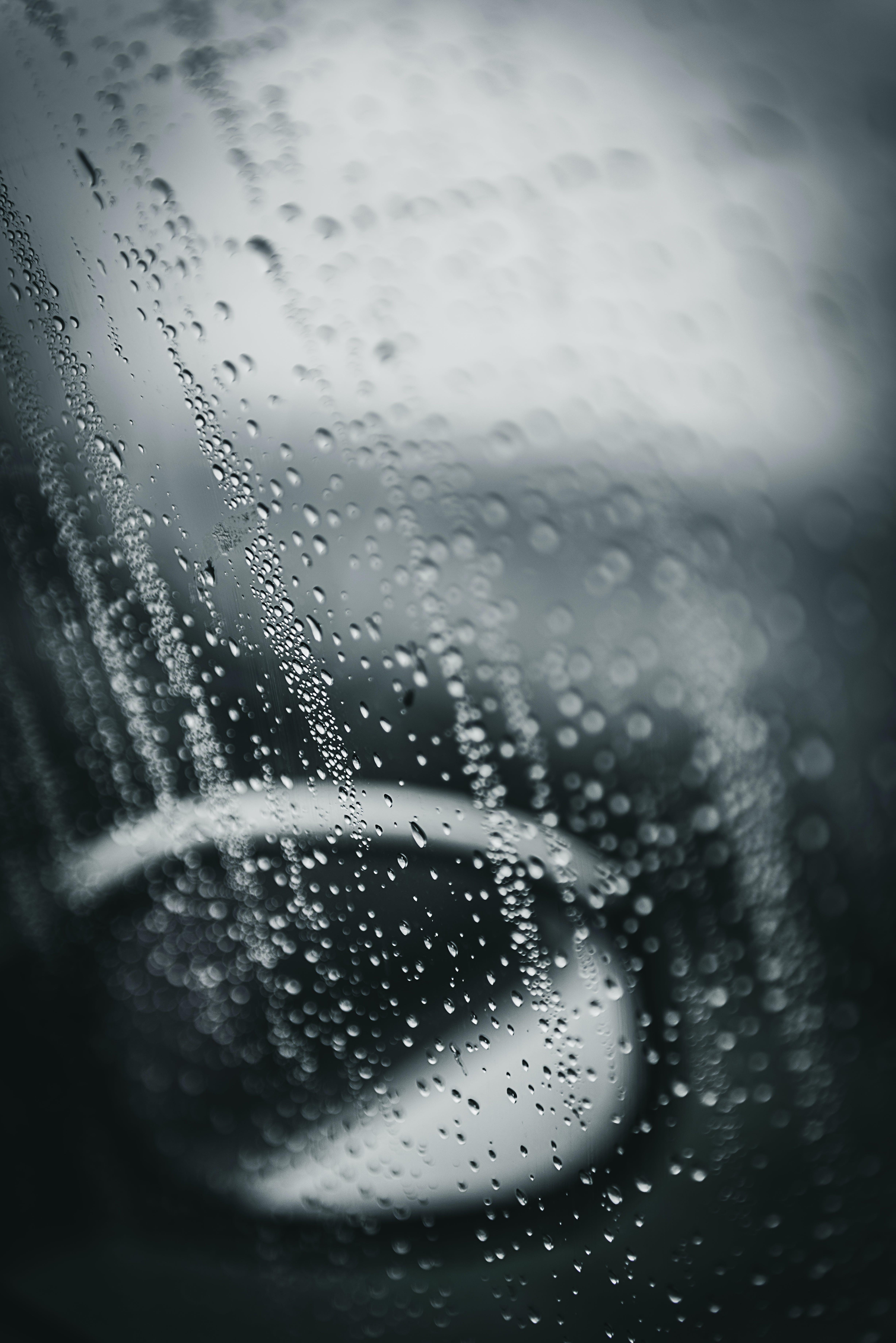 of blur, car, droplets, drops