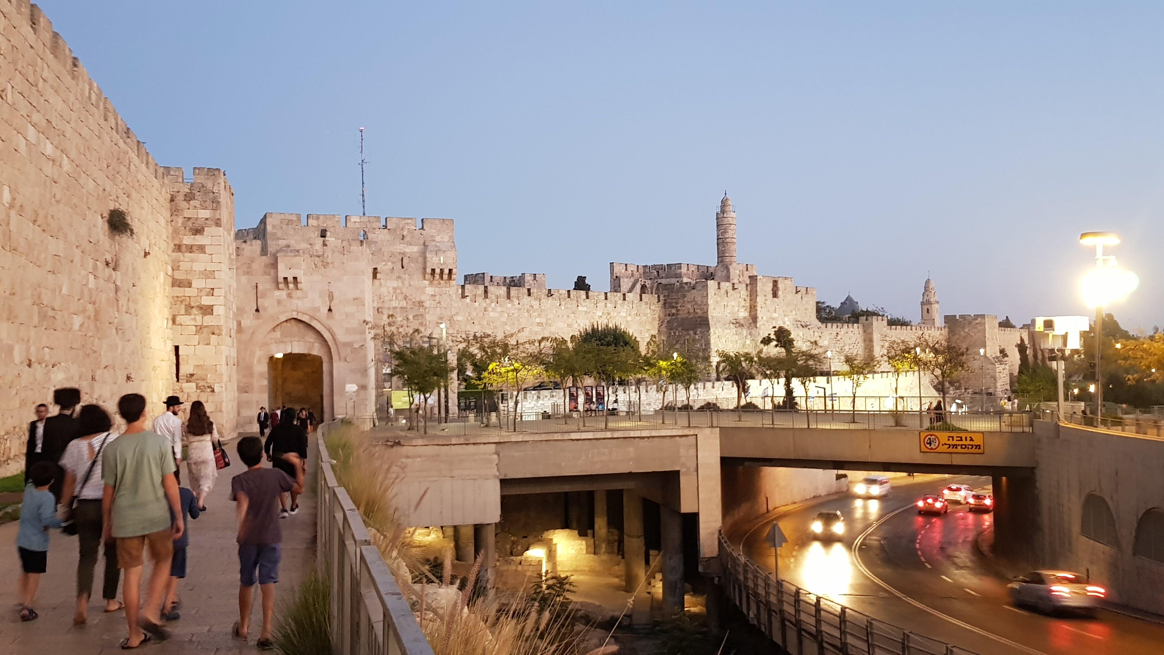 Free stock photo of jerusalem, old city, tower of david, walls
