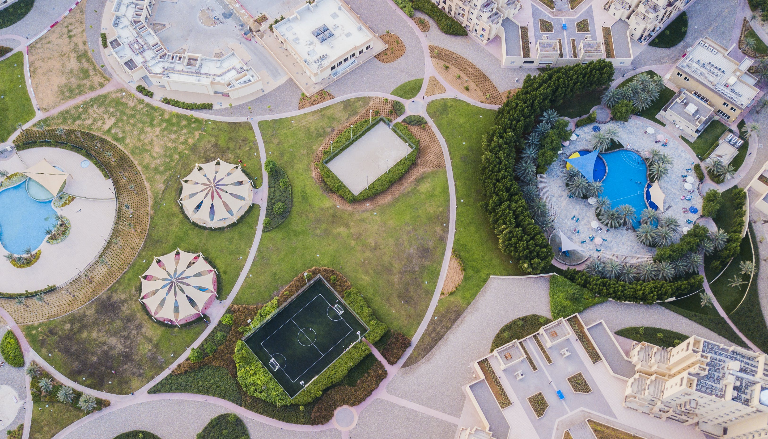 Aerial Photography of Resort and Stadium