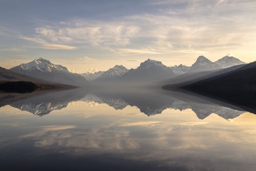 Foto d'estoc gratuïta de aigua, Aigües tranquil·les, alba, alps
