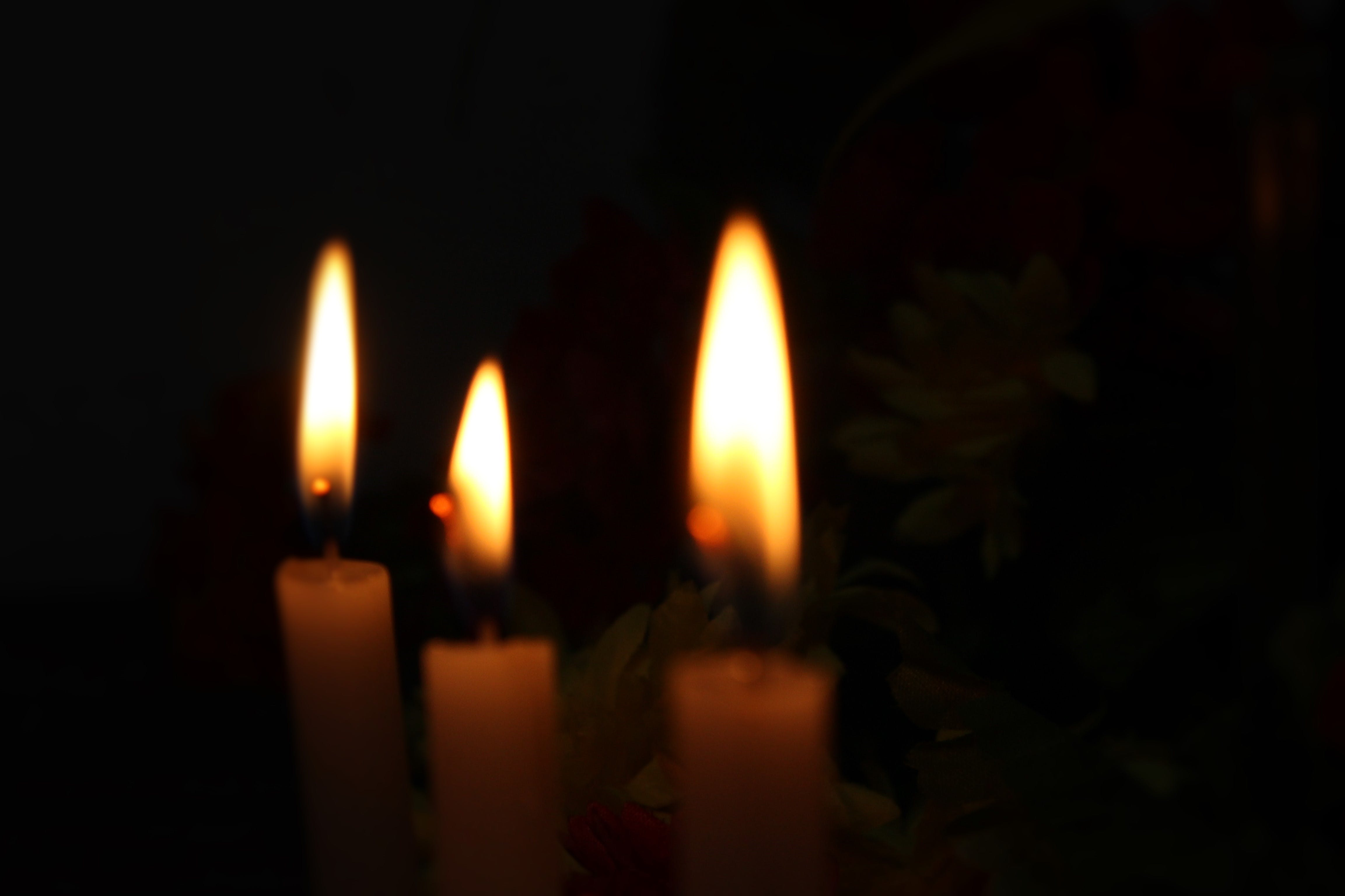 Free stock photo of black, candle light background, Candlelights, candles