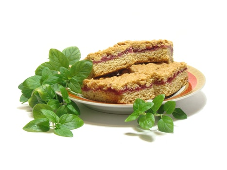 Brown Cookie Sandwich on Plate
