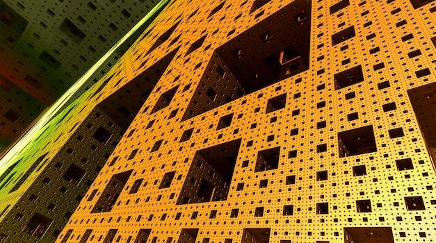 Free stock photo of yellow, mathematics, abstract, architecture
