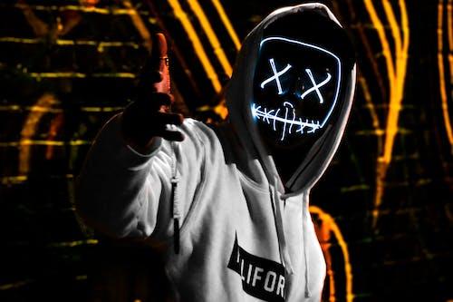 Free stock photo of led mask, purge mask