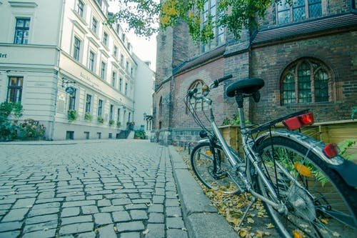 Parked Bicycle Near Building